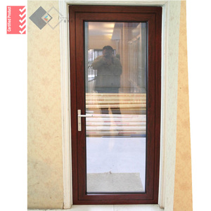 Australia standard high water tightness aluminum casement door with door corning silicon sealant