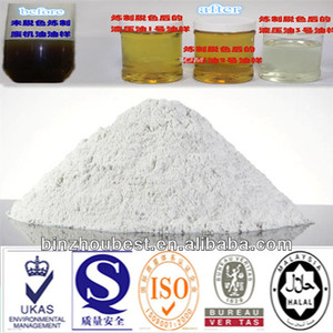 Activated bleaching earth/fuller clay powder for used engine oil cleaning