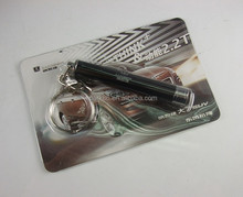 projector logo keychain torch blister card pack led torch