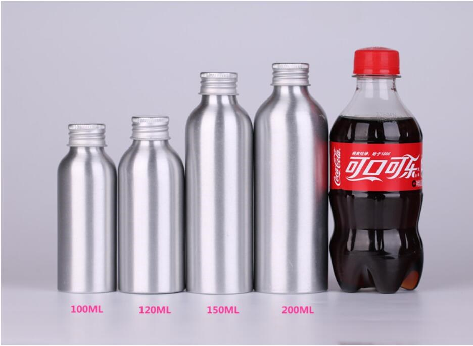 Empty aluminum bottles screw lid 15ml 30ml 50ml 80ml 100ml 150ml 200ml aluminum bottle