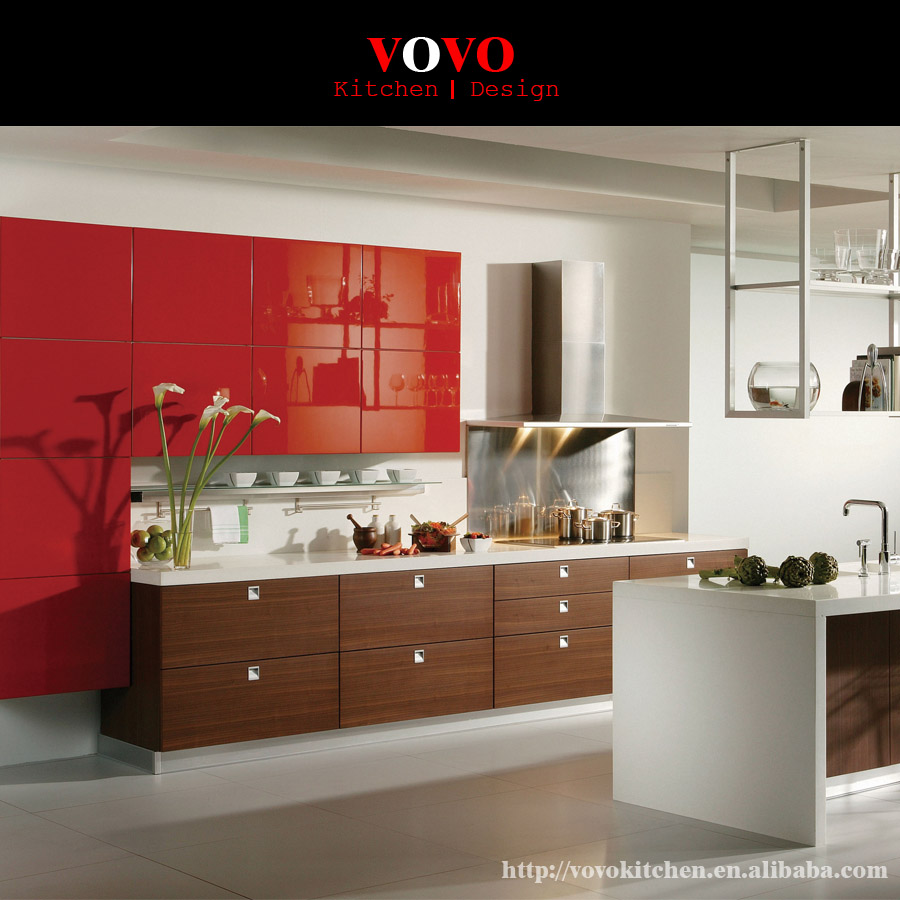 French Red Lacquer Kitchen Cabinet View French Kitchen Cabinet Product Details From Vovo Building Material Shenzhen Co Ltd On Alibaba Com