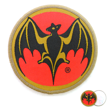customized shape colorful over lock high density iron on woven patch