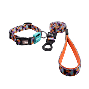No Minimum Order Custom Dog Accessories Nylon Pet Collar And Leash Wholesale With Good Price Manufacturer