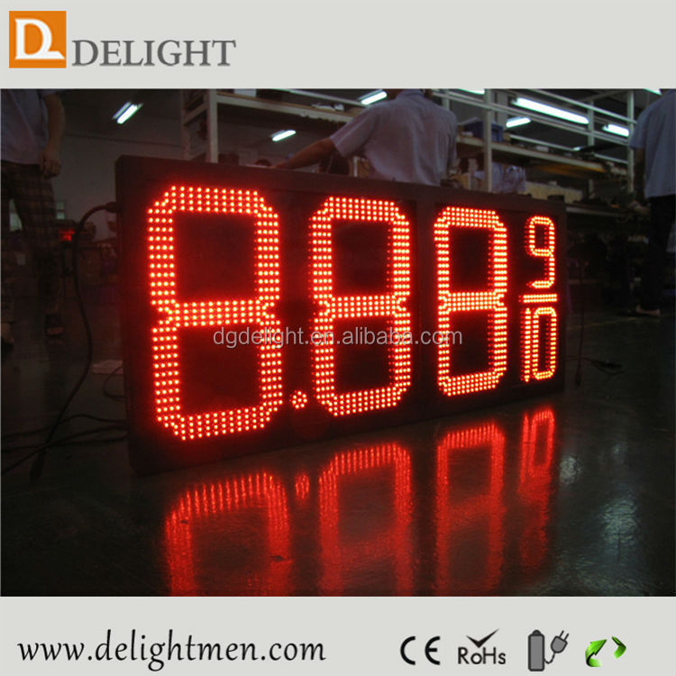 small led clock display/ led gas price sign/ industrial countdown timer