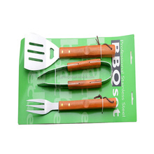 gardening stainless steel bbq tools set with paper card