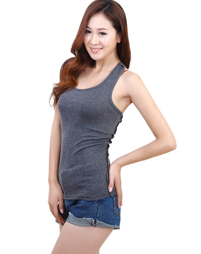 ae3df957d0d31f Get Quotations · 2015 new sexy women knitted cotton lace camisole ladies  plus size basic sleeveless lace tank top