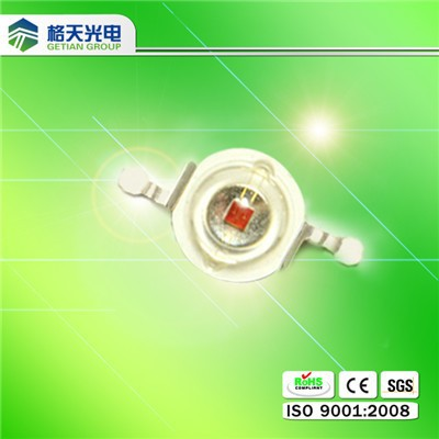 Shenzhen led manufacturer 640nm 660nm red led chip 3w for plant grow light