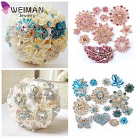 Sparking Rhinestone Wedding Bridal Crystal Brooches Brooch Pins Bouquet