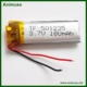 China manufacturer 3.7V 180mah 501235 Lithium Polymer LiPo li ion rechargeable Battery for camera headset earphone