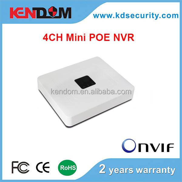 H.264 4CH mini 1080P POE NVR Onvif Cheap NVR Support 4CH 1080P IP Camera NVR Kit