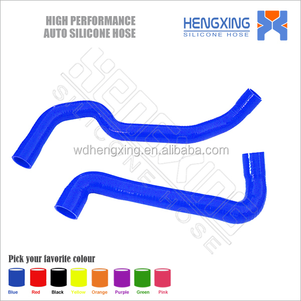 88-91 E30 M3 2.3L MT 3-PLY BLUE SILICONE RACING RADIATOR HOSE PIPING PIPE hose clamp