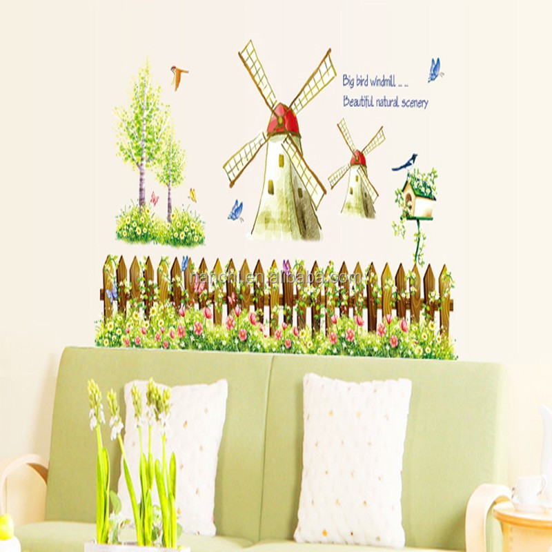 Holland Rural Windmill Zoo Wall Decals For Kids Baby Room Wall ...