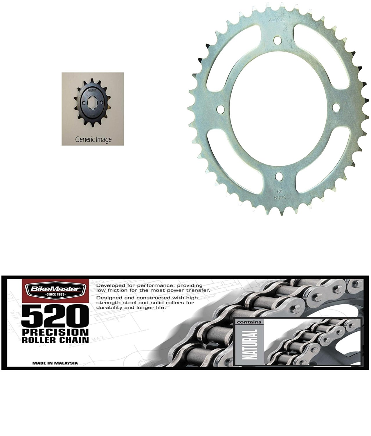 Honda TRX 450ER 2006-2009 Primary Drive 520 ORM O-Ring Chain 520x96 Fits