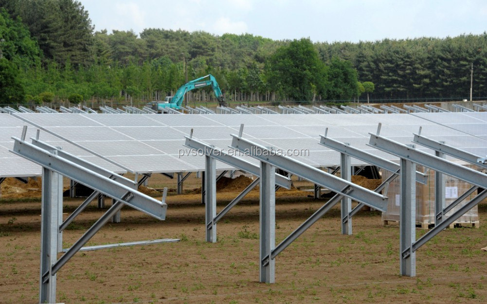 Solar Ground Mount Structure Stand Alone Solar Power