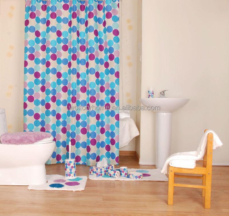Shower Curtain And Bath Accessories Creative Dot Design ...