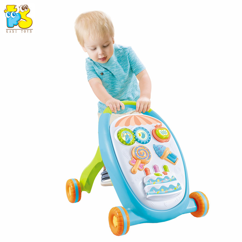 High quality baby walker trolley music learning toys for kid multi-functional toy car