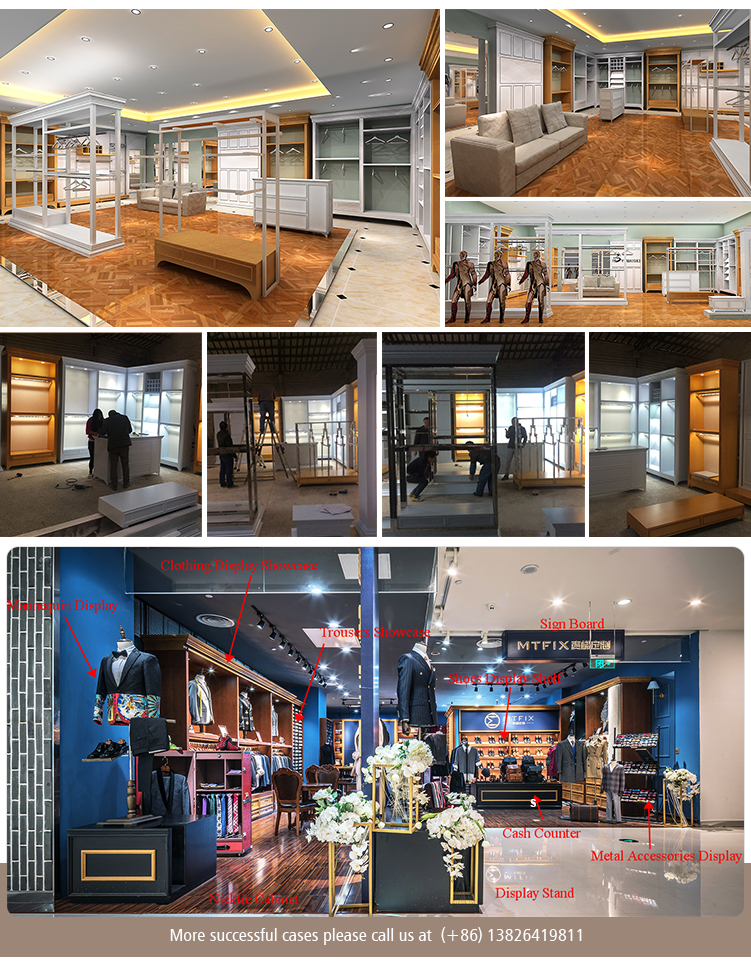 b9b6dbed81 Caliente vender moda personalizada diseñado ropa tienda decoración para los  hombres