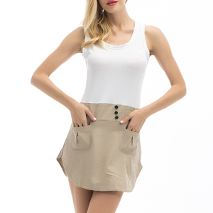 wholesale ladies custom plain blank white sleeveless crop top for women