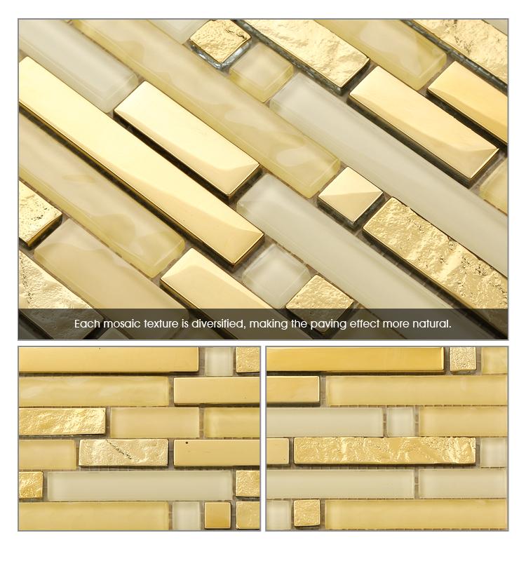 Materiales De Construcción Tira De Oro Azulejos De Mosaico De Vidrio ...