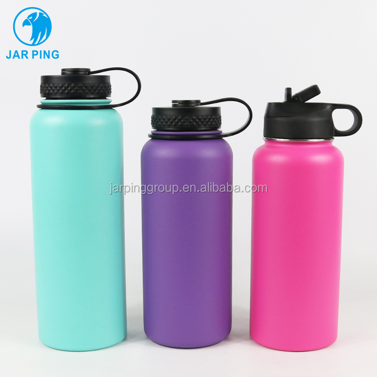 Wholesale Double Walled Vacuum Insulated Stainless Steel Yoga Fitness Water Bottle with flex cap 104A-15