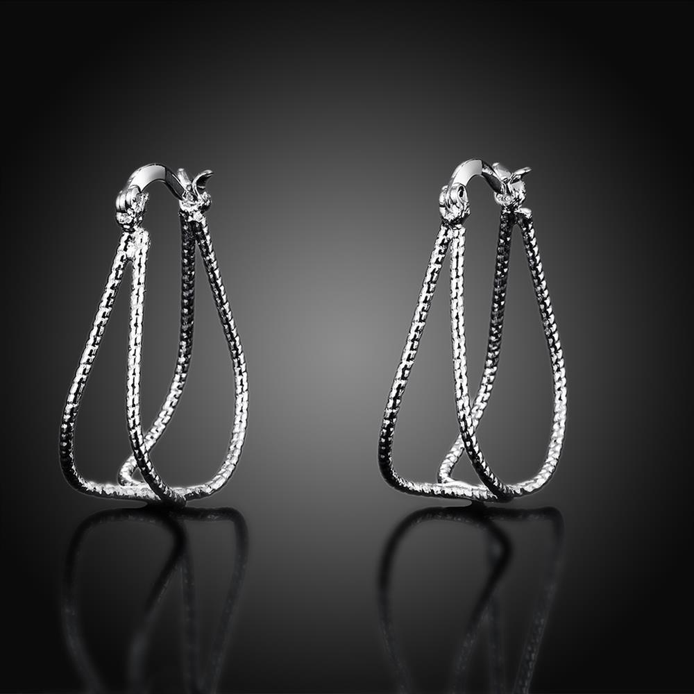 6309777d333e Regalos de novia aro redondo pendiente para las mujeres de moda Chapado en  plata