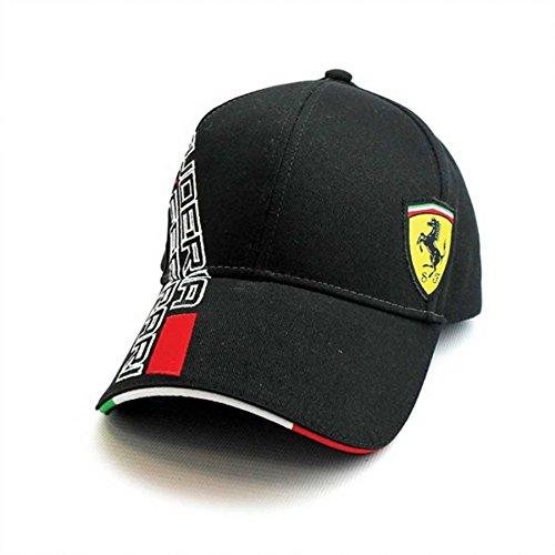4eefc131bd615 Get Quotations · Ferrari Black SF Shield Hat
