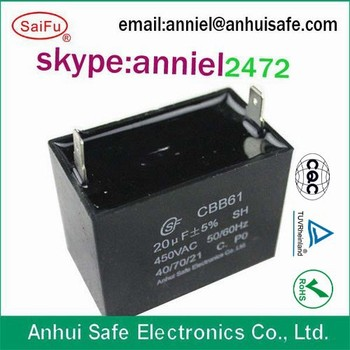 Capacitor 450v 10uf 25 85 21 Sh Cbb61 For Electrical