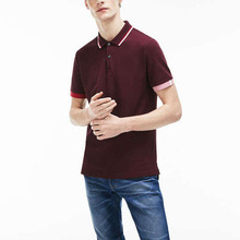 Hot Selling! Mens Slim Fit Piped Hals <span class=keywords><strong>Petit</strong></span> Piqu