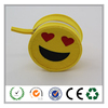 Alibaba popular smiley face yellow felt coin purse for kids gift
