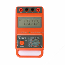 high accuracy 2000 ohm 4 terminals earth ground resistance tester