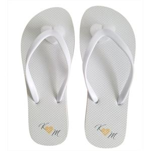 Top quality customised colorful Wedding Slipper pvc white bride bridesmaid flip flops