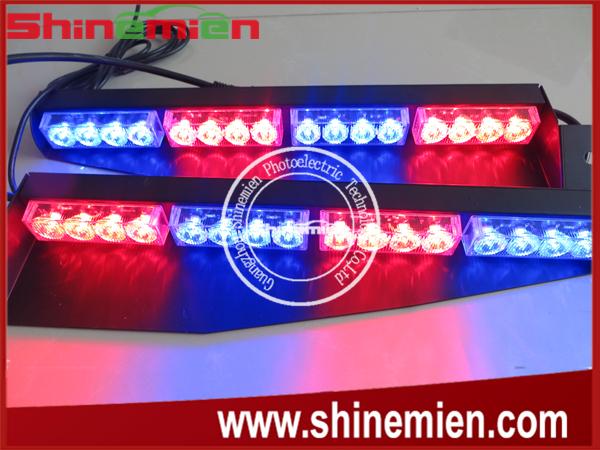 17inch each 32led visor light panel strobe light bar police fireman tow towing truck dash emergency