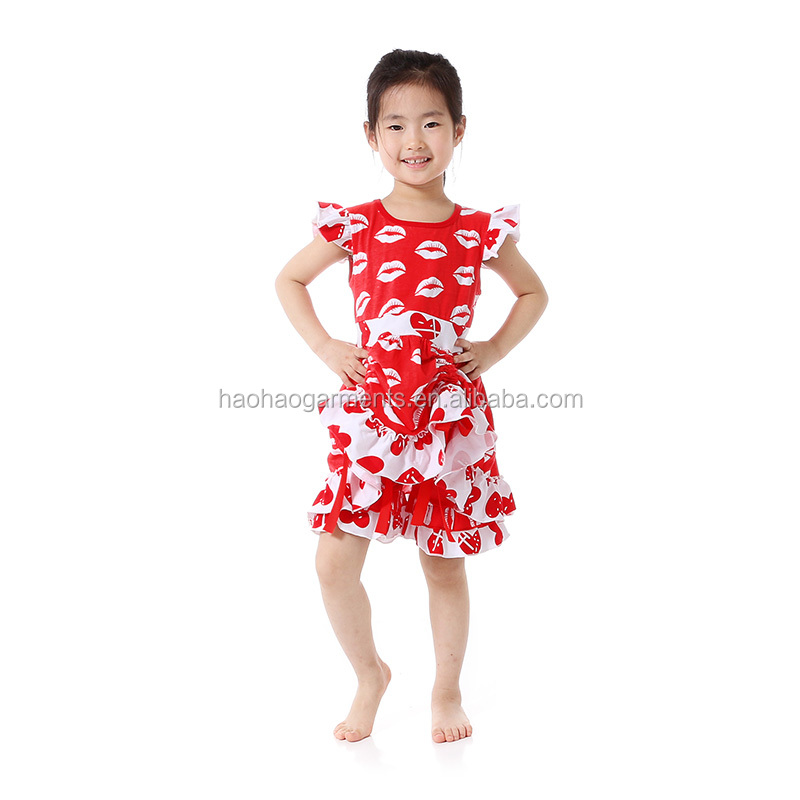 Latest 2 Pieces Baby Clothing Outfit for Ruffle Summer Children Shirt Wholesale Cute Kid Clothes