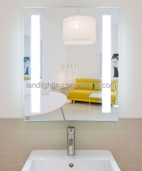 iluminado dos verticales esmerilado espejo del bao con sensor toma de mquina