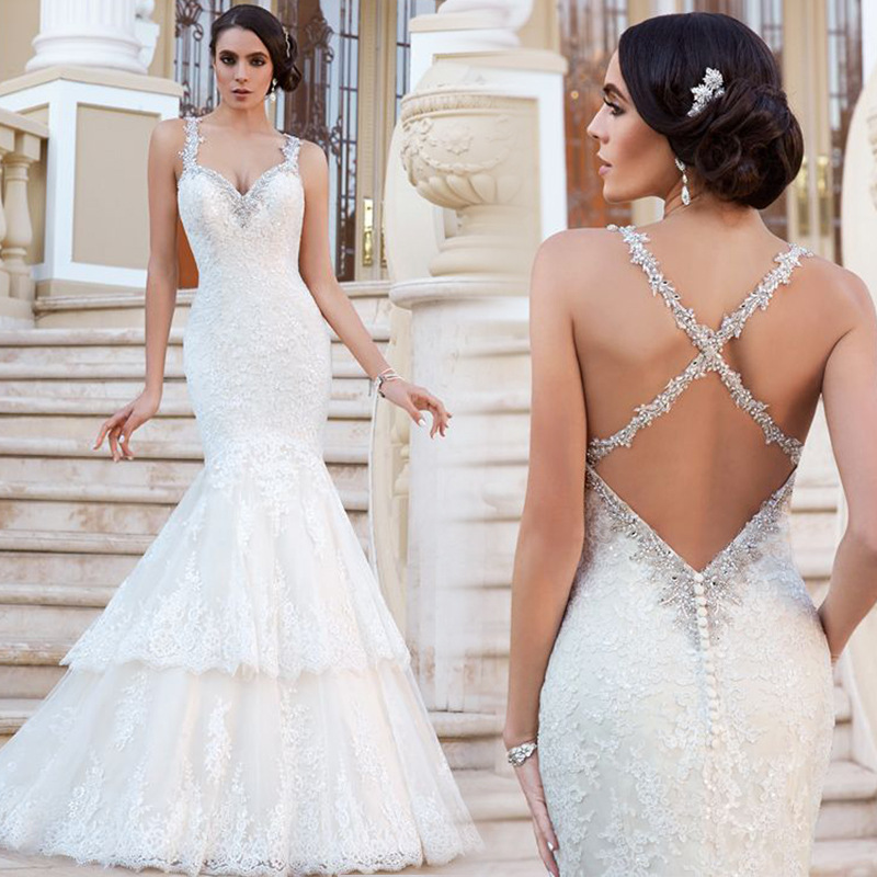 Z92895a 2017 New Model Sexy Backless Wedding Dress,Alibaba Oem ...