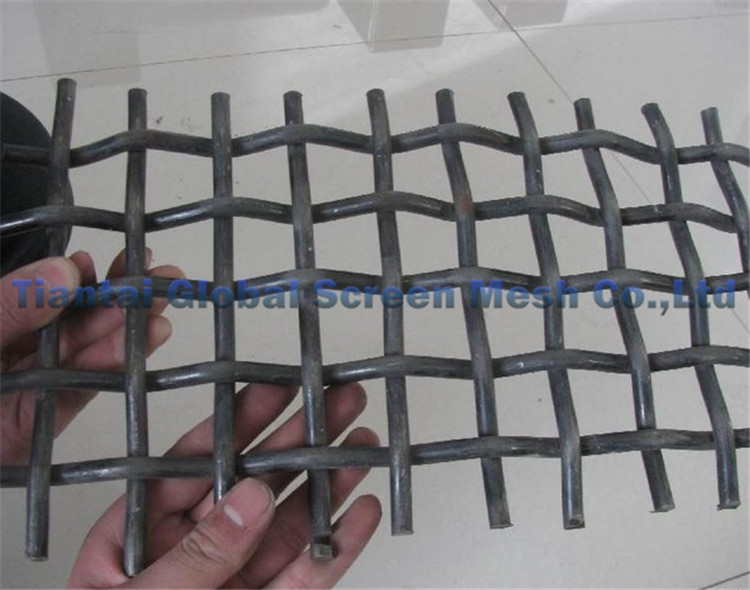 Mining screen 1 mesh stainless steel crimped wire mesh panel