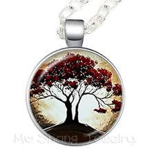 Лидер продаж, стеклянные кабошоны для ожерелья «Древо жизни», аксессуары для мужчин и женщин, ювелирные изделия, Подарочная цепочка для сви...(Китай)