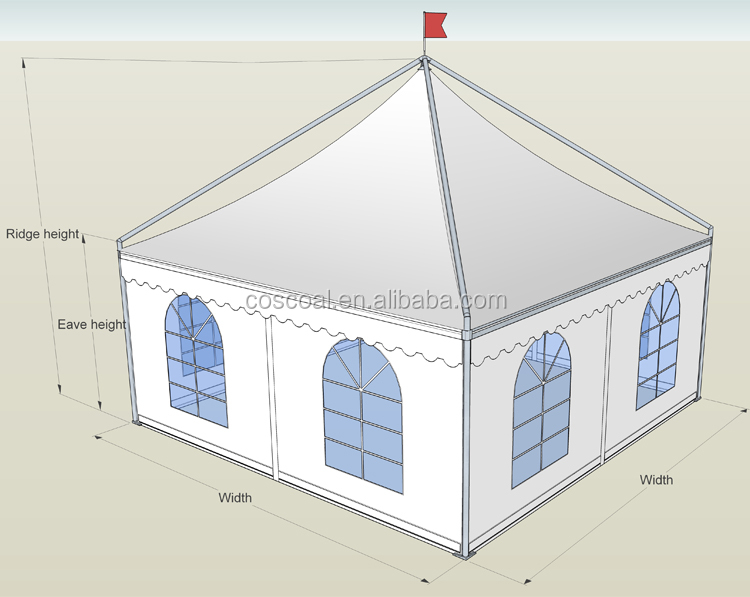exhibition large gazebo aluminium long-term-use dustproof
