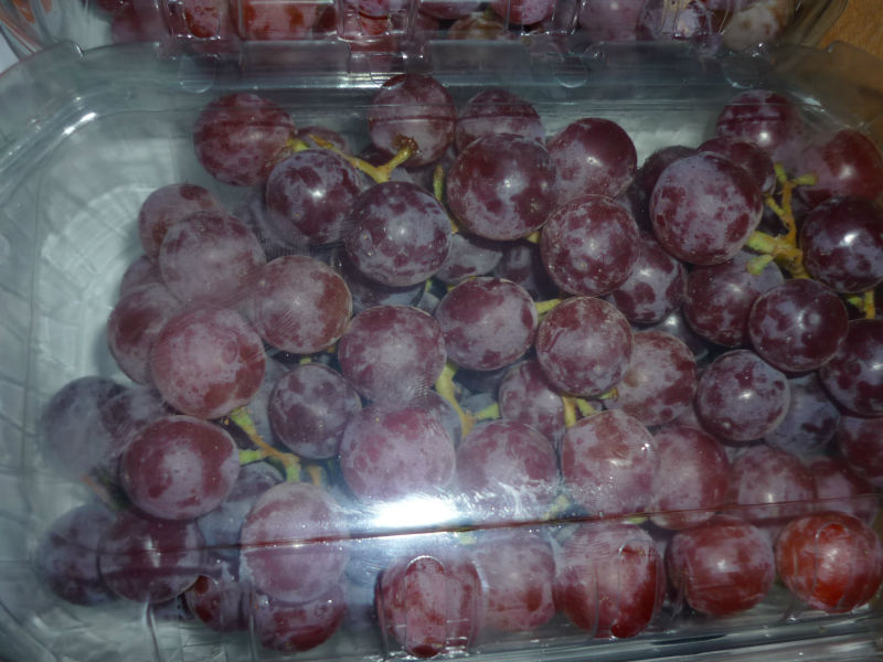 fresh crimson grapes