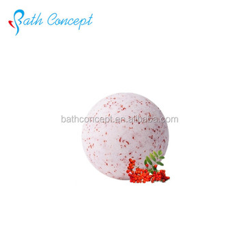 Popular Natural herbal flower bath fizzer/bath bomb with fragrance