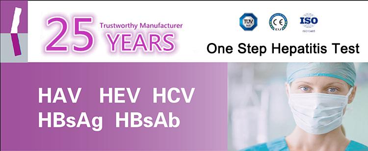 2018 CE En Iyi Fiyat Ile Popüler Yüksek Doğruluk Uzun Raf Süresi Hızlı HCV Test Kiti