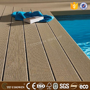 Moisture-proof easy installation wood timber WPC decking pvc laminated flooring