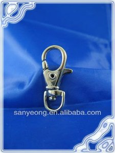 Zinc alloy snap hook ; Metal carabiner hook/Metal Zink hook/Swivel zinc alloy hook_K62(10mm)