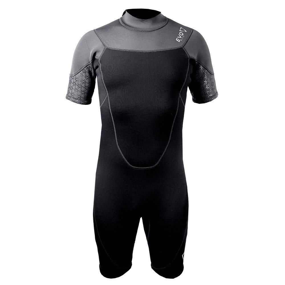 Get Quotations · EVO Elite 3mm Super-Stretch Shorty Wetsuit (Men s) XL Black 688db4413