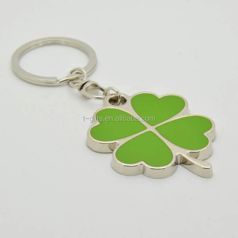 Four Leaf Clover Keychain With Green Enamel For Lucky Gift - Buy ... 7f25e284a1a0