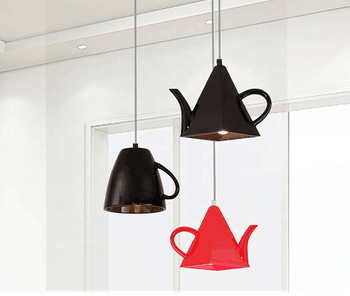 Fancy Style Resin Color Teacup and Teapot Pendant Lamp