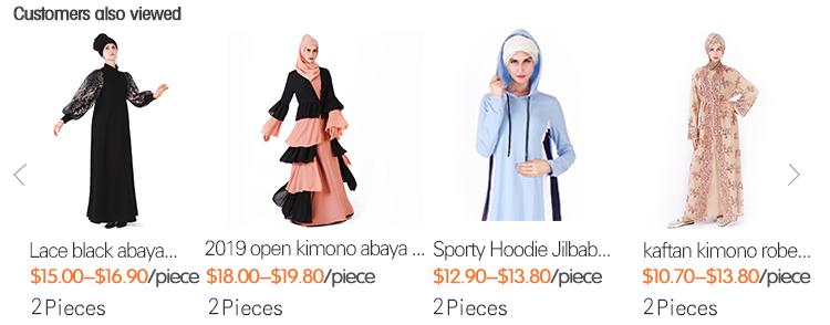 2019 Mooie exclusieve scherm kant pailletten moslim jurk jong meisje islamitische kleding bescheiden open abaya kimono voor vrouwen