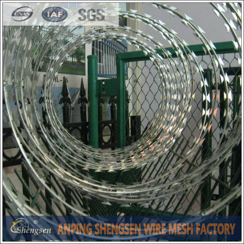 Alibaba Recommend Anping Factory Military Concertina Wire