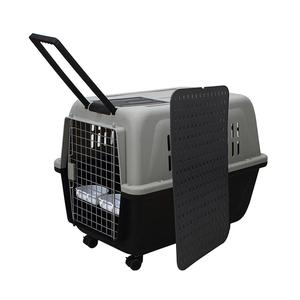 XXL Portable Plastic Pet Enclosure Top Rated Large Cat Travel Carrier Large Dog Carrier With Wheels