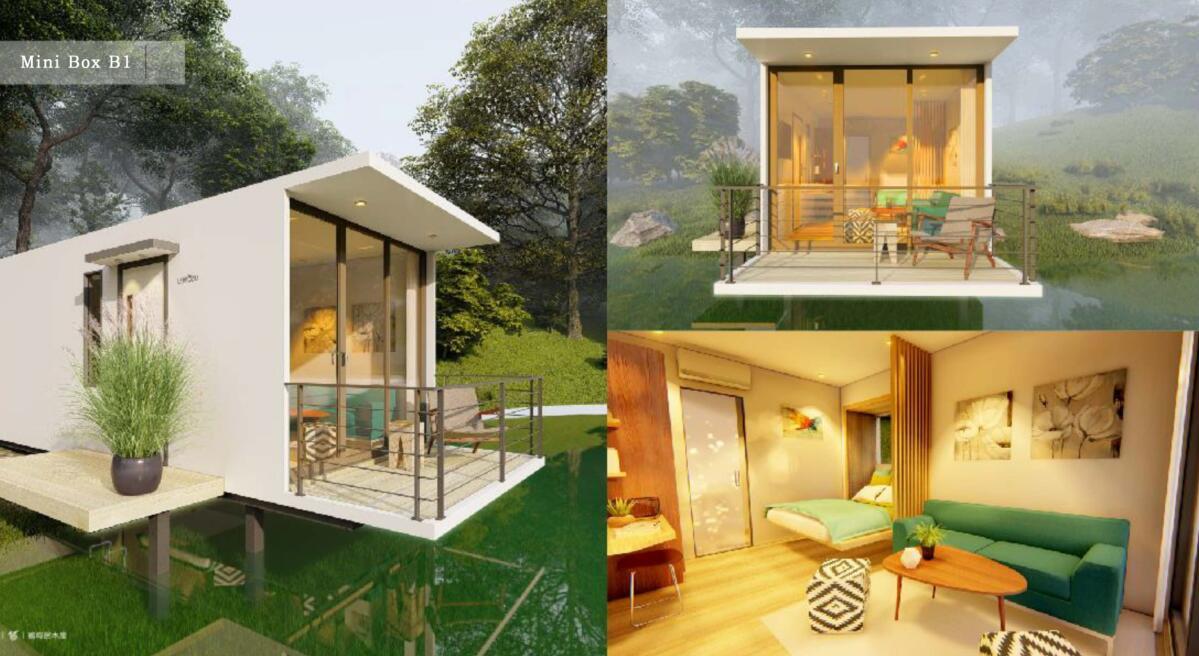 Cabin Murah Prefab Kayu Pantai Liburan Rumah